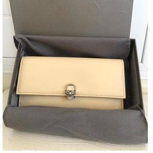 🔥NIB Alexander McQueen Continental Leather Wallet
